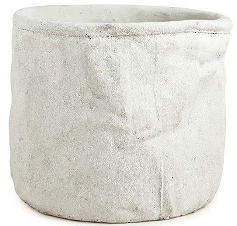 Cachepot em cimento Bege- 15x 16 cm