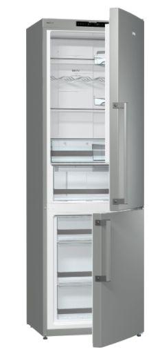 Refrigerador, 2 Portas Inverse, Inox, 220V- Gorenje