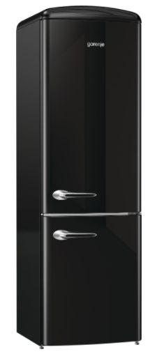 Refrigerador Retro, 2 Portas Inverse, Preto, 220V-Gorenje