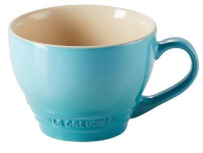 Caneca Bistrô 400 ml Azul Caribe- Le Creuset