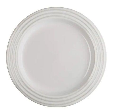 Prato redondo 27 cm, White- Lê Creuset