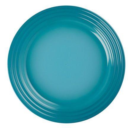 Prato raso em Cerâmica, Azul Caribe- Lê Creuset