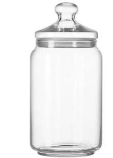 Pote Hermético Vidro Transparente com anel de silicone