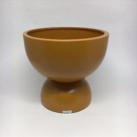 Chachepot em Cerâmica Ocre Fosco-20x 22 cm