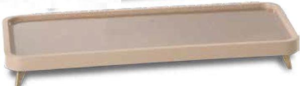 Aparador de Acrílico e Madeira Nude-32X04X16 cm
