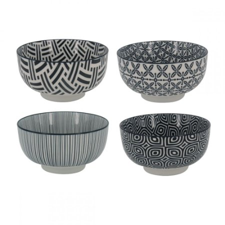 Conjunto de Bowls Monocromáticos - 13 x 7cm - 4 peças, Incasa