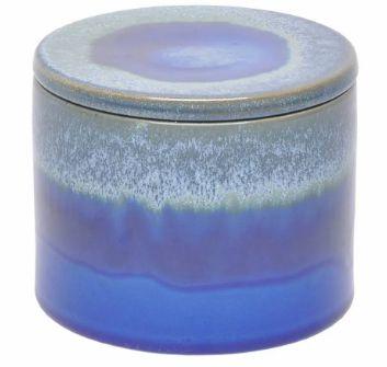 Pote decorativo Azul Royal com tampa hermética - 15,5 x 12,2 cm