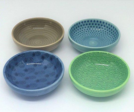 5ce297f840 Conjunto de bowls coloridas para petisco - Tropical - Casa de Lila ...