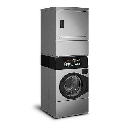 Lavadora e Secadora a Gás Comercial Speed Queen Quantum 10 Kg Inox sem Cofre e Ficheiro 220V