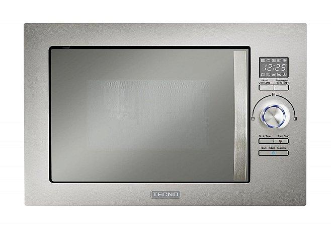 Forno microondas de embutir, 25 litros, com grill, 220V - Tecno