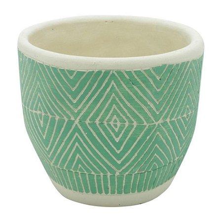 Vaso Concreto Verde - 14,5 x 14,5 x 12,5 cm