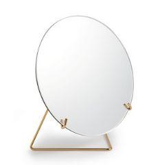 Espelho Redondo com Suporte Dourado - 27,5 x 25 x 14 cm