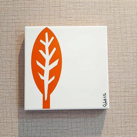 Azulejo Personalizado Elizabeth Titon 15x 15 cm - Folha Laranja