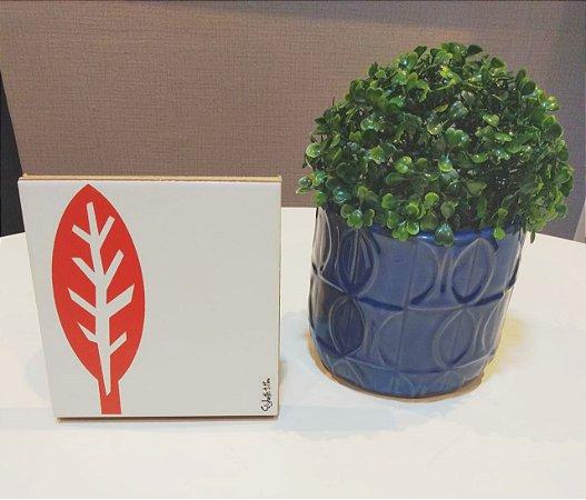 Azulejo Personalizado Artista Elizabeth Titon 15x 15 cm - Folha Laranja