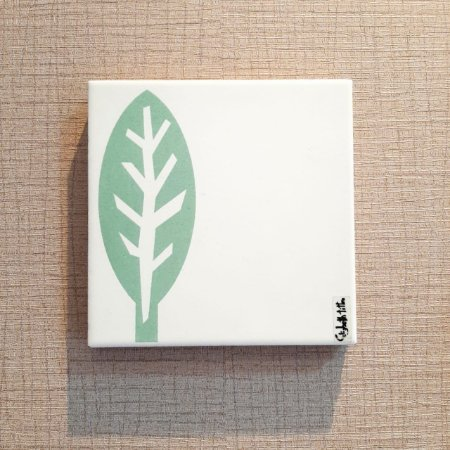 Azulejo Personalizado Elizabeth Titon 15x 15 cm - Folha Verde Claro