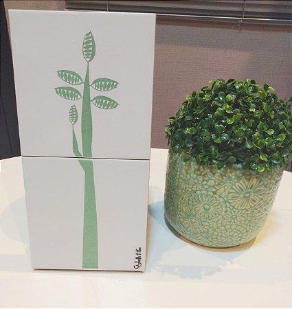 Azulejo Duplo Personalizado Artista Elizabeth Titon 30 x 15 cm - Árvore Verde