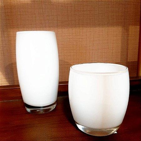 Potes Glossy - Branco 15 x 6,5 x6,5 cm