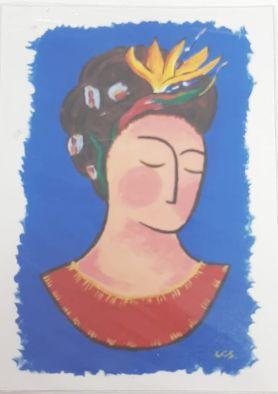 Ímã de geladeira -Frida Inverno
