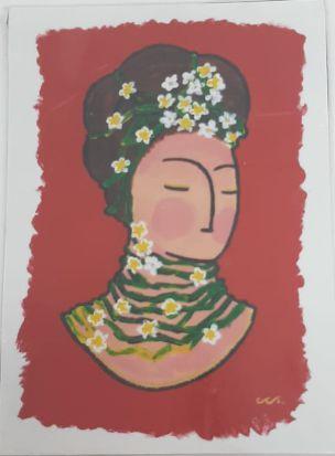 Ímã de geladeira -Frida Primavera