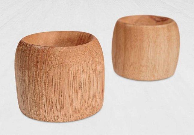 Conjunto de Porta Ovo Coque Madeira Teca 2 peças - ARZ Home Design