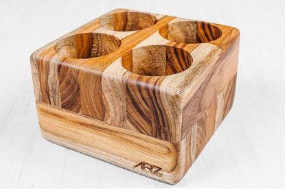 Porta talheres Trou-Madeira Teca- ARZ Home Design