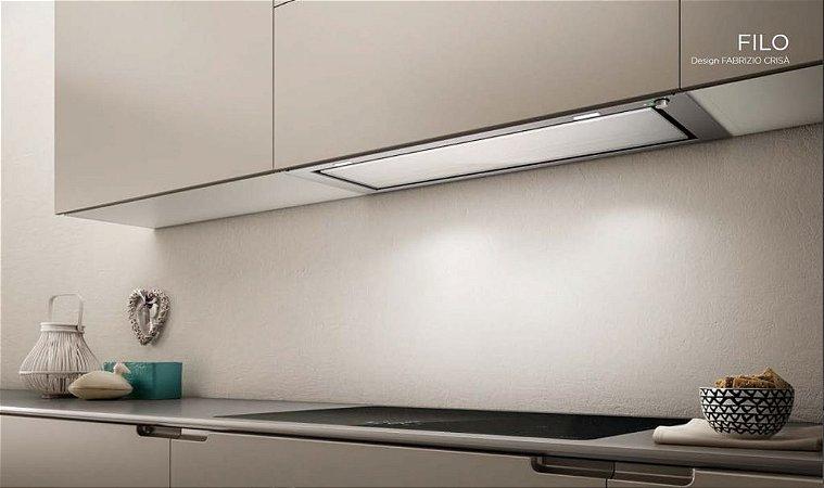 Coifa de embutir 59,8 x 31 cm, asp. perimetral 800m³/h, iluminação LED Elica