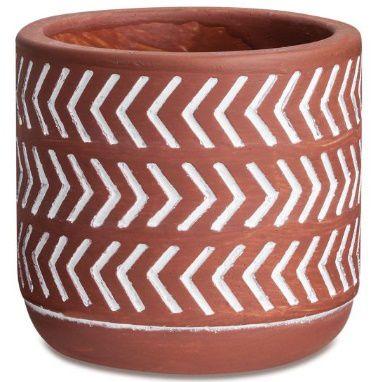 Vaso de Cimento Terracota conta - 11 x 11 x 9 cm