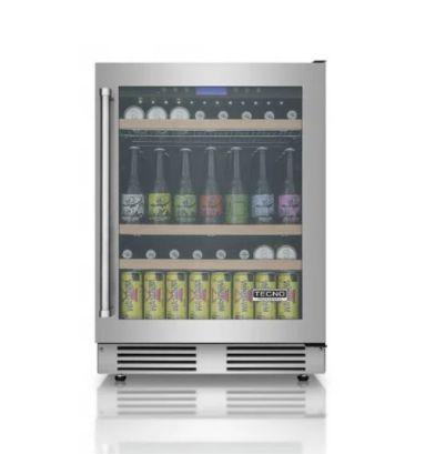 Cervejeira, vidro triplo, 136 litros, piso ou embutir, LED, Inox, Frost Free, Alarme, 220V - Tecno