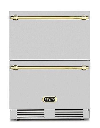 Gaveta refrigerada em inox 135 litros Vintage - Tecno
