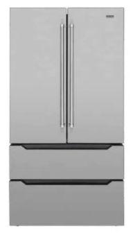 Refrigerador French door, 636 litros, ICE MAKER, Inox, piso ou embutido, 2 gavetas freezer, Inverter, 127V Professional - Tecno