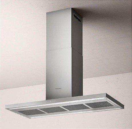 Coifa Ilha, 120 cm, Inox, espessura frame frontal 40 mm (thin), mais silenciosa, iluminação em LED, 220v, Original - Tecno