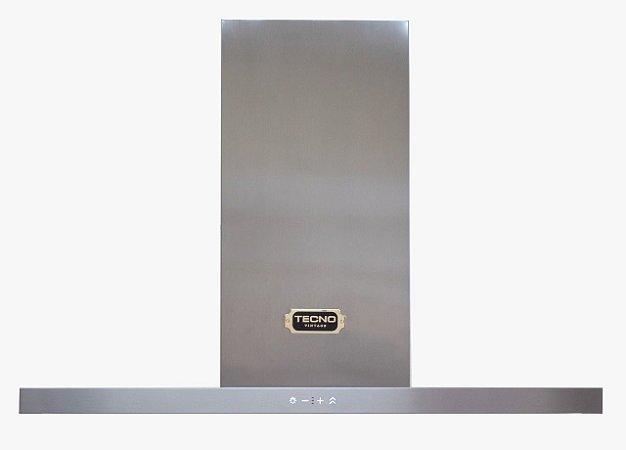 Coifa Parede Vintage, 90 cm, Inox, espessura frame frontal 40 mm (thin), iluminação em LED, 220v - Tecno