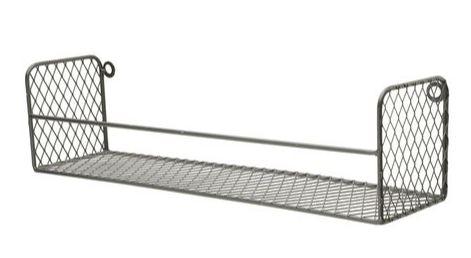 Prateleira Metal Square Cage Preto 40,5 x 10,3 x 11 cm