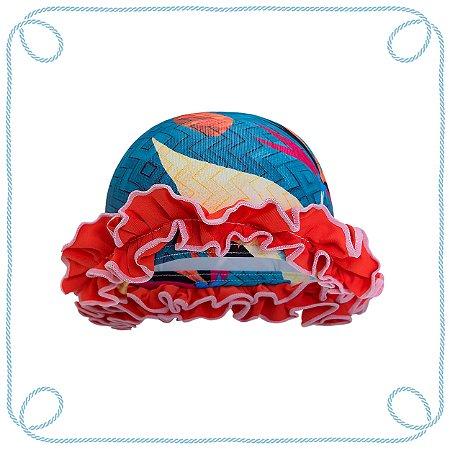 Touca de natação infantil - Piscina (com babados)