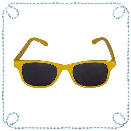 Óculos de sol infantil amarelo (quadrado)