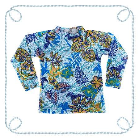 Camiseta infantil com proteção UV - Nadar