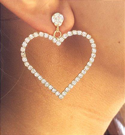 02e1d670c Maxi Brinco Heart Dourado - Wish Bijoux| Bijuterias e Acessórios ...