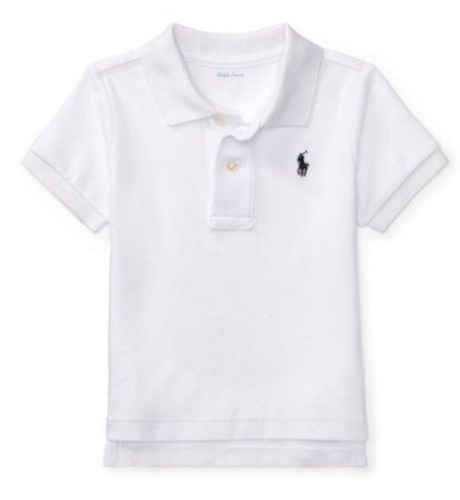b21d184f9c RALPH LAUREN - Camisa Polo Baby Branca - Mini Pineapple Co.