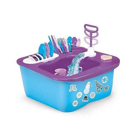Acqua Brink Snow Pia de Louças com acessórios Infantil XPlast Home Play 8000-3