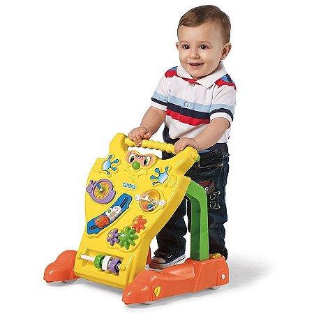 Andador Feliz Brinquedo Educativo Bebê Infantil Calesita 902 Amarelo
