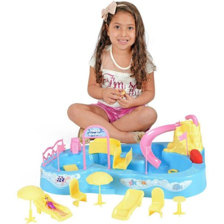 Parque Acquático Bonecas Homeplay Aquatico Xplast Home Play 8002