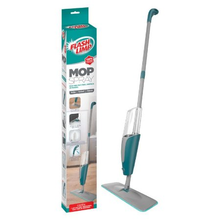 Spray Mop Inteligente Vassoura Rodo com Microfibra Flash Limp