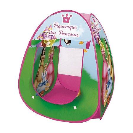 Barraca Infantil Dobrável Toca Tenda Cabana Menina Piquenique das Princesas DM Toys
