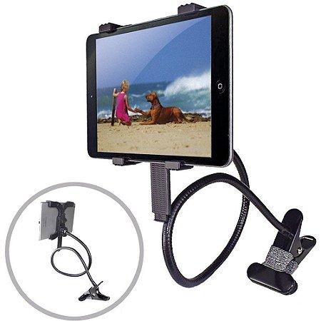 Vexclip-Tab Suporte Articulado Flexível Universal para Tablet Cama e Mesa Vedor