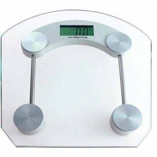 Balança de Banheiro Eletronica LCD Academia Vidro Temperado Digital 180kg