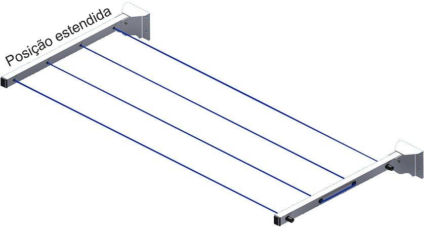 Varal de Roupas Retrátil de Parede Recolhível Dobrável 16 metros  Avatron