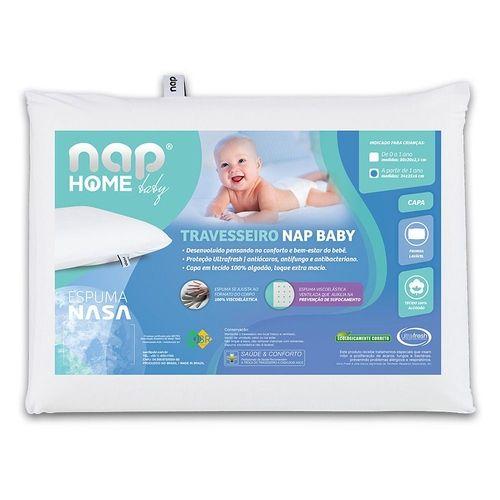 Travesseiro Nap Baby Infantil Hipoalergenico Espuma Nasa