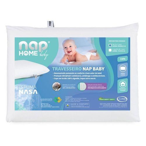 Travesseiro Nap Baby RN Infantil Hipoalergenico Espuma Nasa Recem Nascido TRINR01