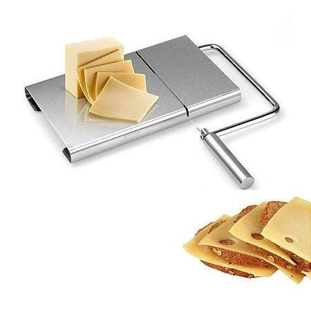 Fatiador de Queijo Inox Manual Cortador com Fio para Frios Manteiga  Ke Home