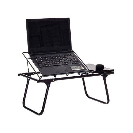 Mesa de Colo para Notebook Mesinha Dobrável c/ Mousepad Metaltru